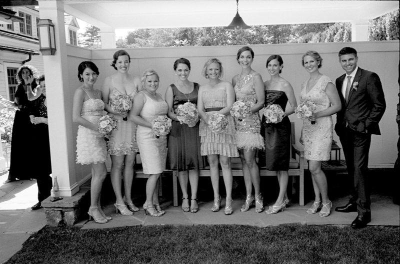 Bridesmaids and bridesbro in the Inn garden on our wedding day (Photo: Michael Wilson)