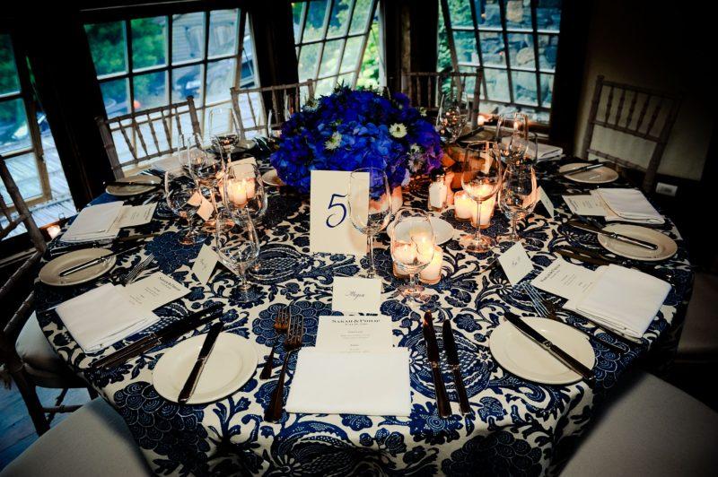 Table set for our rehearsal dinner in the Yoga Loft (photo: Kristen Somody Whalen)