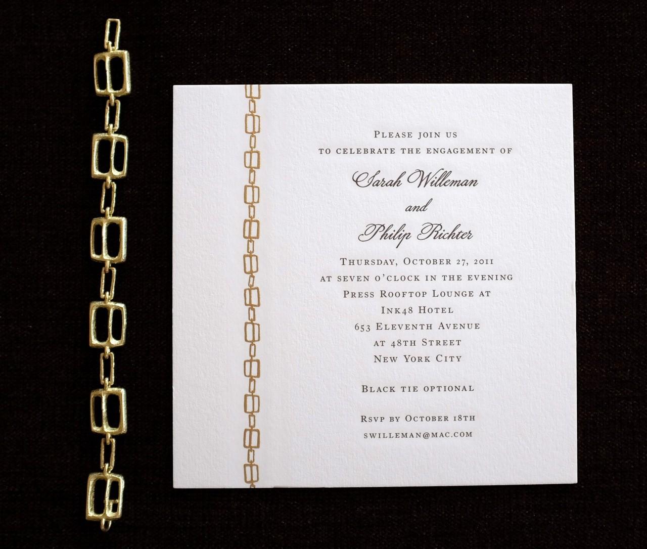Invitation Design Grappa Lane – New York Party Invitations