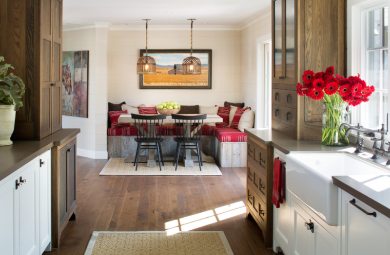 The cushions make this built-in seat inviting. Anne Sneed Architectural Interiors, Jim Brady Architectural Photography, Houzz.com.