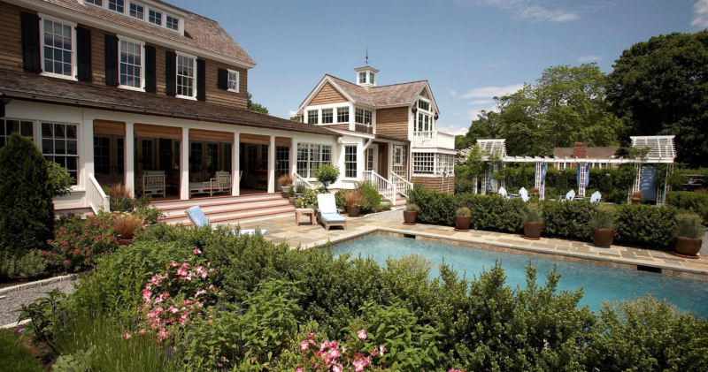 A Hamptons Retreat designed by our house architects, Andrew Cogar and colleagues. The pool and yard get southern sun. Photo: Historical Concepts