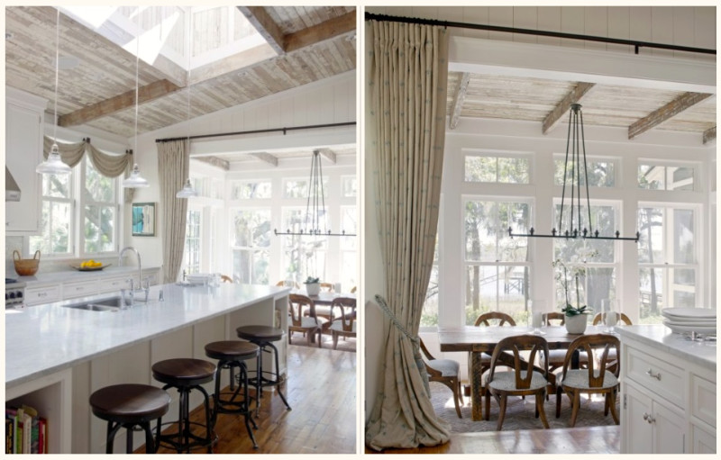 Lots of sunlight and inviting textures in this South Carolina house. Photo and design: Historical Concepts