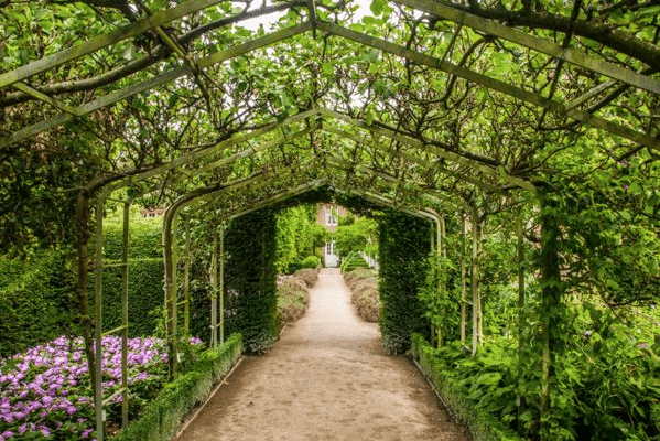 A very old version, on a British estate, has that enchanted-garden aura. Holker Hall on BritainExpress.com