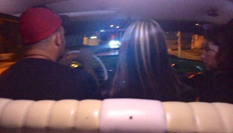 Driver, girlfriend, Virginia: gotta love a bench seat