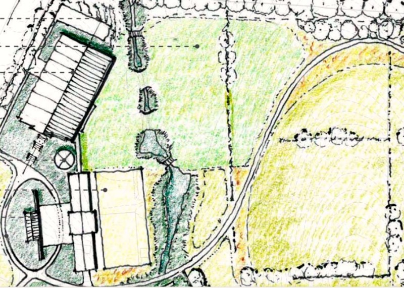 I love these hand-drawn property plans by Nelson Byrd Woltz.