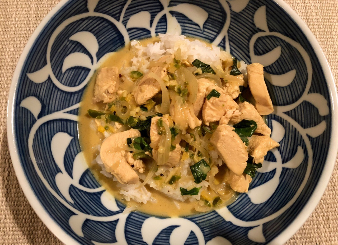 Coconut Curry Chicken with Thai Basil